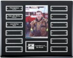 Ebony Finish Perpetual Plaque Monthly Perpetual Plaques