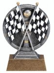 Motion X Crossed Flags 3-D Motion X Action 3D Resin Trophy Awards