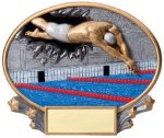 Motion X Oval Swimming Motion X Oval Resin Trophy Awards