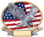 3D Oval Eagle Patriotic Awards