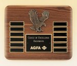 Eagle American Walnut Perpetual Plaque Patriotic Awards