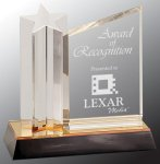 Star Column with Acrylic Plaque Patriotic Awards