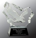 Crystal Carved Eagle Award Patriotic Awards