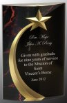 Red Marble Rounded Shooting Star Acrylic Patriotic Awards