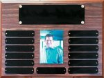 Perpetual Plaque Assembled with Black Plates Photo Perpetual Plaques