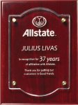 Rosewood Plaque With Floating Acrylic Piano Finish Plaques