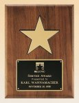 American Walnut Plaque with 5 Gold Star Recognition Plaques