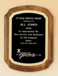 American Walnut Plaque with Florentine Border Recognition Plaques