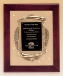 Rosewood Piano Finish Frame Plaque with Cast Relief Recognition Plaques