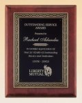 Rosewood Piano Finish Plaque Recognition Plaques