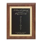 Walnut Finish Rosette Plaque Recognition Plaques
