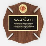 Genuine Walnut Plaque Religious Awards