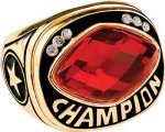 Gold Champion Ring with Insert Rings
