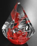 Large Quattro Pyramid - Red Sales Awards