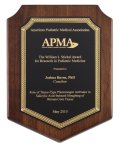 Genuine Walnut Plaque with Satin Finish Sales Awards