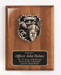 Piano Finish Plaque with Metal Casting Sales Awards