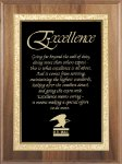 Genuine Walnut Plaque Sales Awards