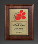 Walnut Panel; Gold Tone Plate Sales Awards