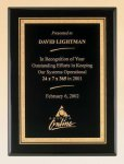 Black Piano Finish Plaque with Brass Plate Sales Awards