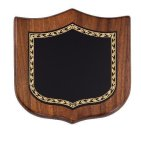 Walnut Shield Corporate Plaque Sales Awards