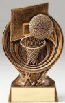 Saturn Series Basketball Resin Trophy  Saturn Series Sculpted Antique Gold Resin Trophy A
