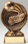 Saturn Series Soccer Resin Trophy  Saturn Series Sculpted Antique Gold Resin Trophy A