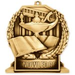 Book and Lamp Standup Medal Scholastic Trophy Awards