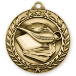 Book and Lamp Medal Scholastic Trophy Awards