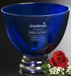 Cobalt Pedestal Bowl Secretary Gift Awards
