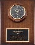 Genuine Walnut Clock Plaque Secretary Gift Awards