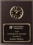 Cherry Finish Clock Plaque Secretary Gift Awards