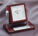 Tilting Rosewood Desk Clock Secretary Gift Awards