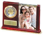 Wood and Glass Photo Clock Secretary Gift Awards