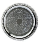 Chrome Tray  Round Design Secretary Gift Awards