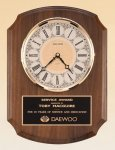 American Walnut Vertical Wall Clock. Secretary Gift Awards