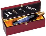 Rosewood Single Bottle Box Secretary Gift Awards