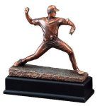 Baseball Pitcher Signature Black Resin Trophy Awards