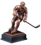 Hockey Player Signature Black Resin Trophy Awards