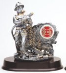Fireman Signature Rosewood Resin Trophy Awards
