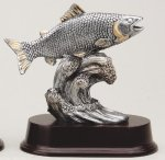 Fish Signature Rosewood Resin Trophy Awards