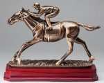 Horse Racing - Saturn Style Signature Rosewood Resin Trophy Awards