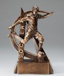 Ultra Action Series Sculpted Antique Gold Soccer - Male Resin Trophy  Soccer Trophy Awards