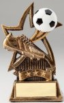 Star Series Sculpted Antique Gold Soocer Resin Trophy  Soccer Trophy Awards