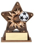 Star Burst Resin Soccer Soccer Trophy Awards