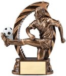 Bronze and Gold Soccer, Male Award Soccer Trophy Awards