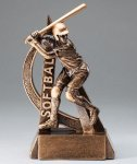 Ultra Action Series Sculpted Antique Gold Softball - Female Resin Trophy  Softball Trophy Awards
