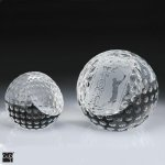 Golf Ball Paper Weight Crystal Award Sport Crystal Awards