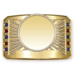 Glitter Belt Buckle Medallion Square Rectangle Awards