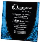 Acrylic Blue Plate Square Rectangle Awards