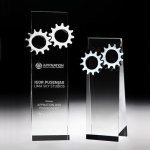 Gear Tower Crystal Award Square Rectangle Awards